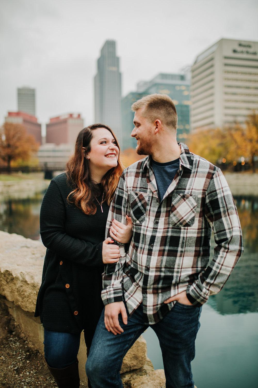 Hannah & Brett - Engaged - Nathaniel Jensen Photography - Omaha Nebraska Wedding Photograper - Omaha Nebraska Engagement Session - Downtown Omaha Engagement Session-87.jpg