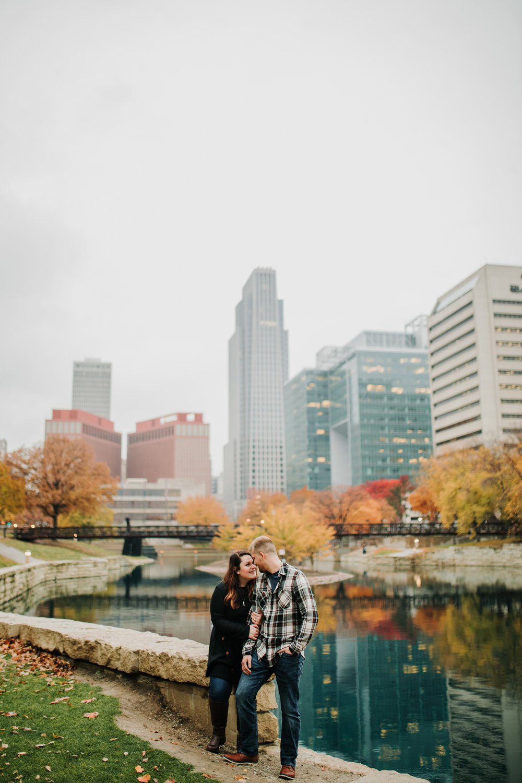 Hannah & Brett - Engaged - Nathaniel Jensen Photography - Omaha Nebraska Wedding Photograper - Omaha Nebraska Engagement Session - Downtown Omaha Engagement Session-91.jpg