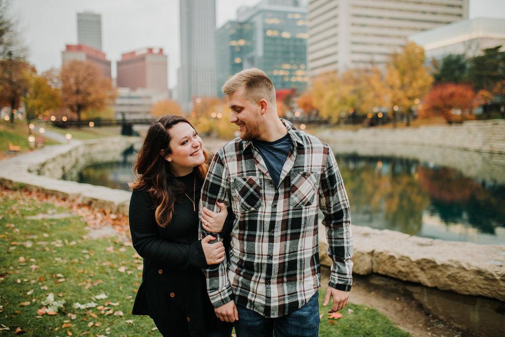 Hannah & Brett - Engaged - Nathaniel Jensen Photography - Omaha Nebraska Wedding Photograper - Omaha Nebraska Engagement Session - Downtown Omaha Engagement Session-95.jpg