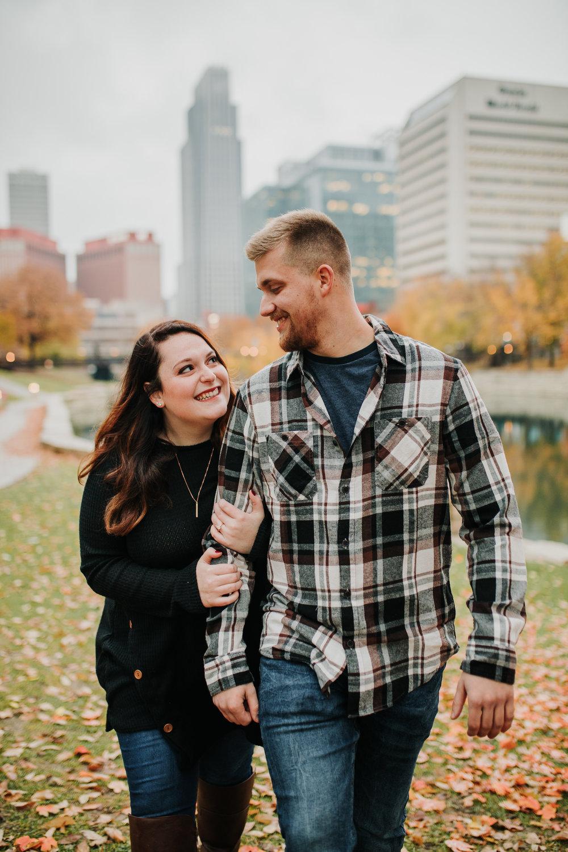 Hannah & Brett - Engaged - Nathaniel Jensen Photography - Omaha Nebraska Wedding Photograper - Omaha Nebraska Engagement Session - Downtown Omaha Engagement Session-96.jpg