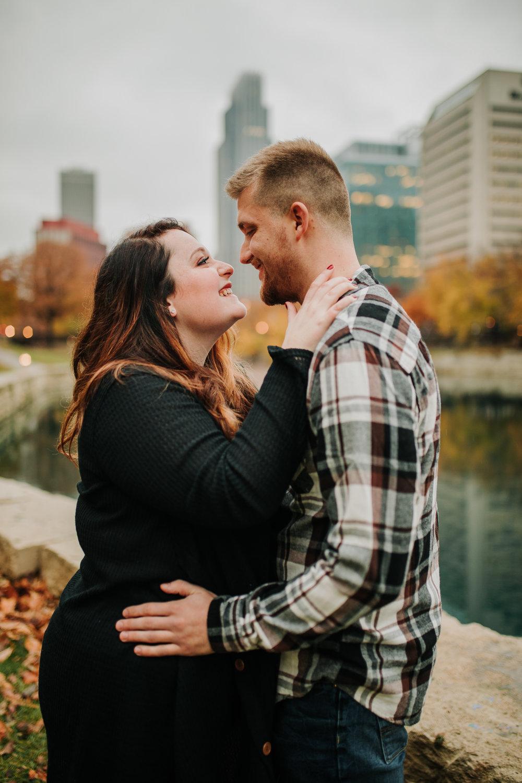 Hannah & Brett - Engaged - Nathaniel Jensen Photography - Omaha Nebraska Wedding Photograper - Omaha Nebraska Engagement Session - Downtown Omaha Engagement Session-102.jpg