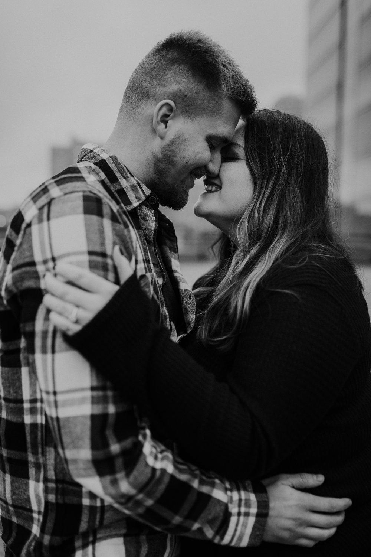 Hannah & Brett - Engaged - Nathaniel Jensen Photography - Omaha Nebraska Wedding Photograper - Omaha Nebraska Engagement Session - Downtown Omaha Engagement Session-123.jpg