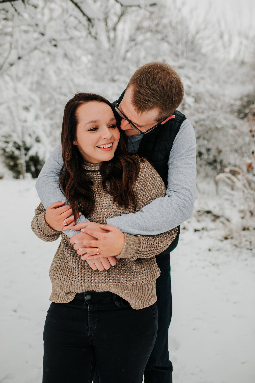 Vanessa & Dan - Engaged - Nathaniel Jensen Photography - Omaha Nebraska Wedding Photographer - Standing Bear Lake - Snowy Engagement Session-19.jpg