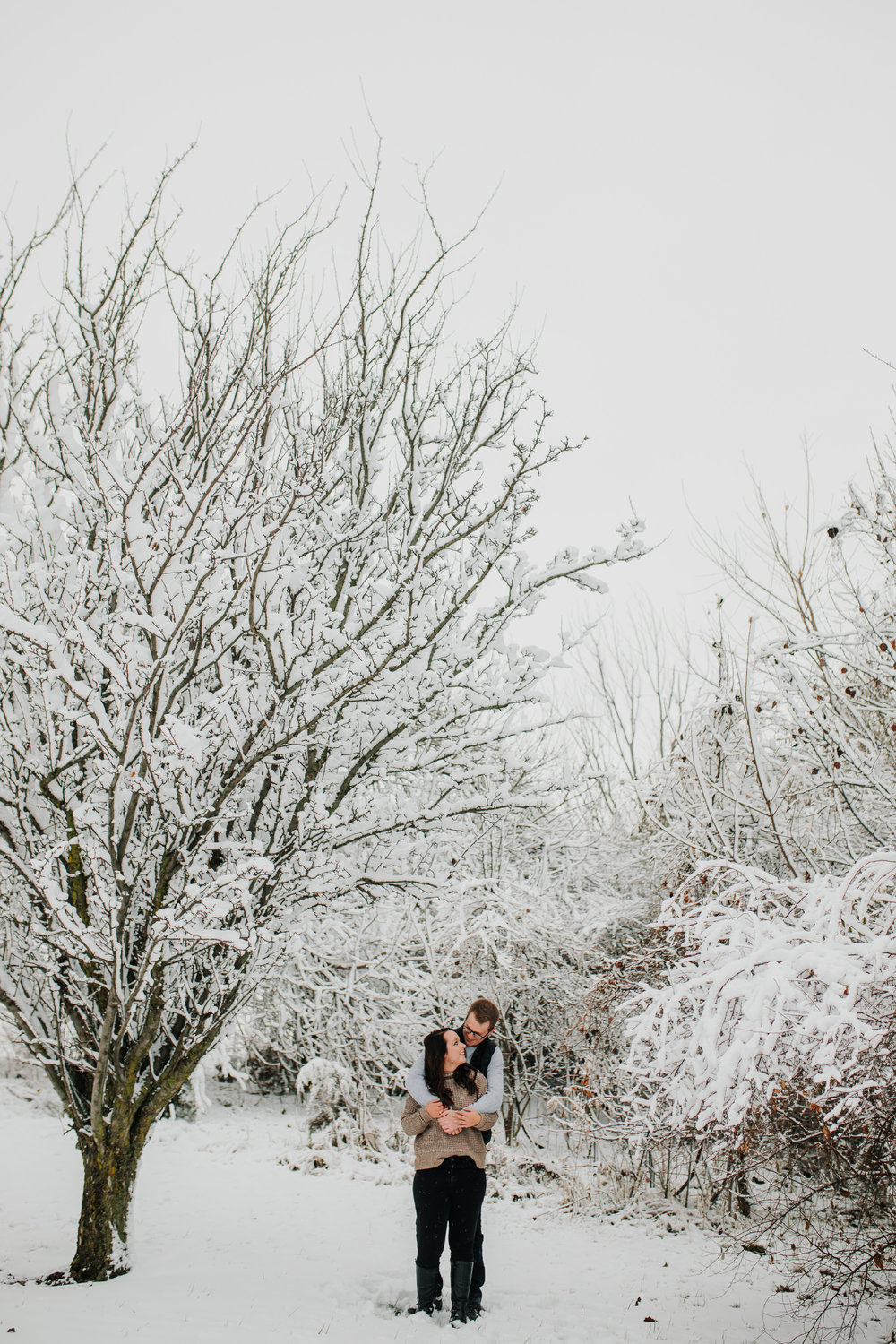 Vanessa & Dan - Engaged - Nathaniel Jensen Photography - Omaha Nebraska Wedding Photographer - Standing Bear Lake - Snowy Engagement Session-22.jpg
