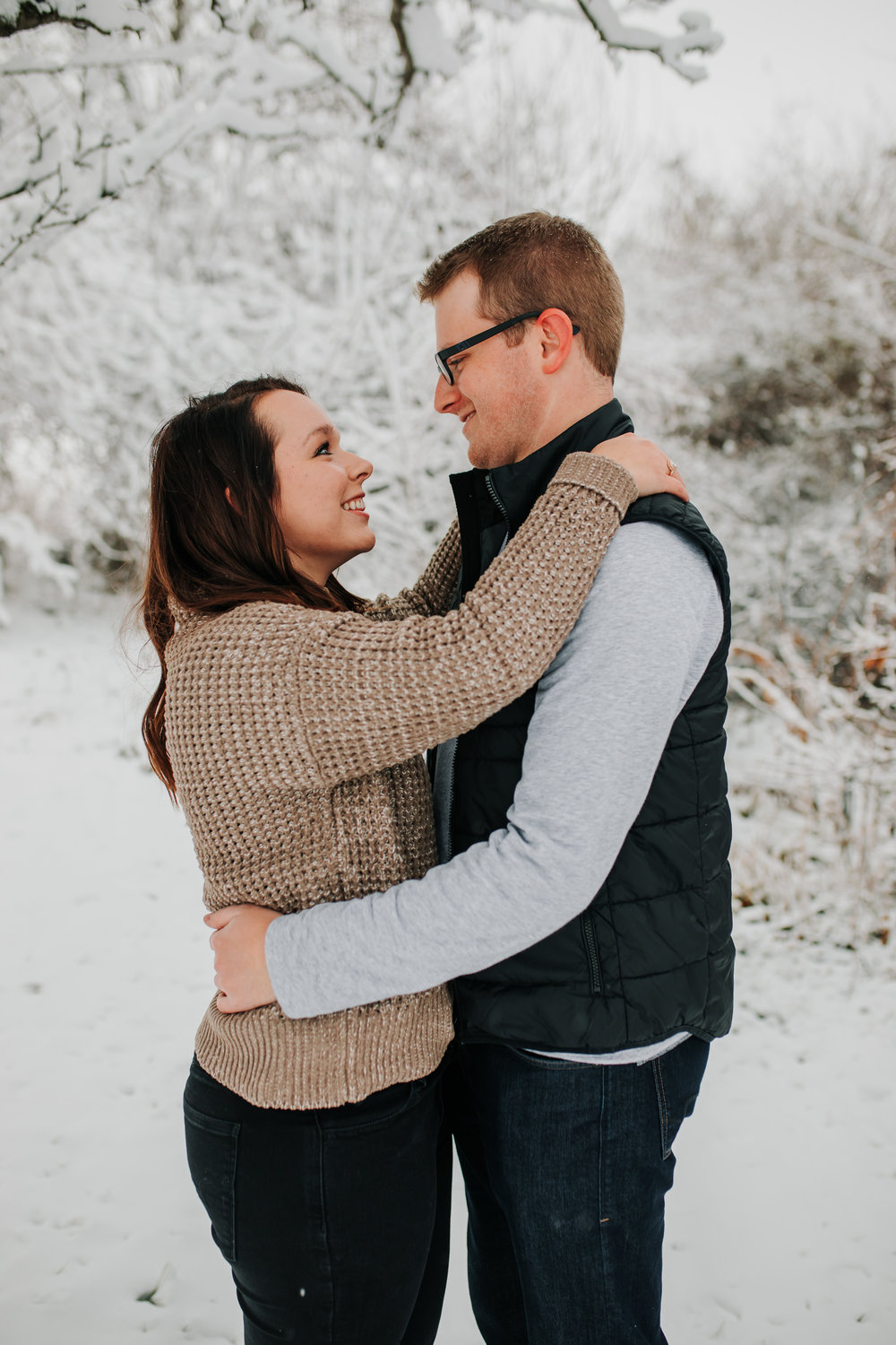 Vanessa & Dan - Engaged - Nathaniel Jensen Photography - Omaha Nebraska Wedding Photographer - Standing Bear Lake - Snowy Engagement Session-23.jpg