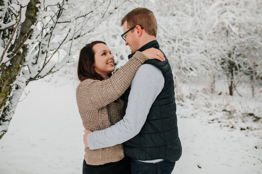 Vanessa & Dan - Engaged - Nathaniel Jensen Photography - Omaha Nebraska Wedding Photographer - Standing Bear Lake - Snowy Engagement Session-24.jpg