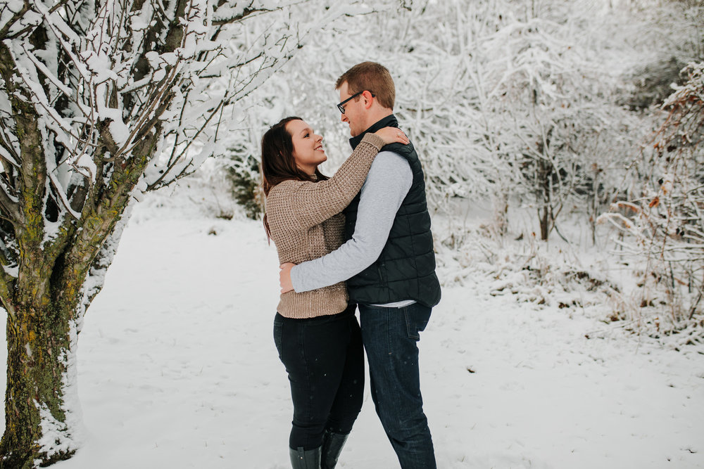 Vanessa & Dan - Engaged - Nathaniel Jensen Photography - Omaha Nebraska Wedding Photographer - Standing Bear Lake - Snowy Engagement Session-25.jpg