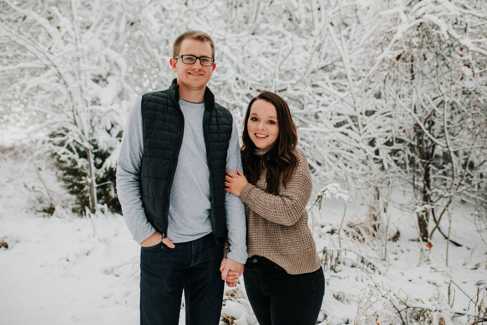 Vanessa & Dan - Engaged - Nathaniel Jensen Photography - Omaha Nebraska Wedding Photographer - Standing Bear Lake - Snowy Engagement Session-27.jpg