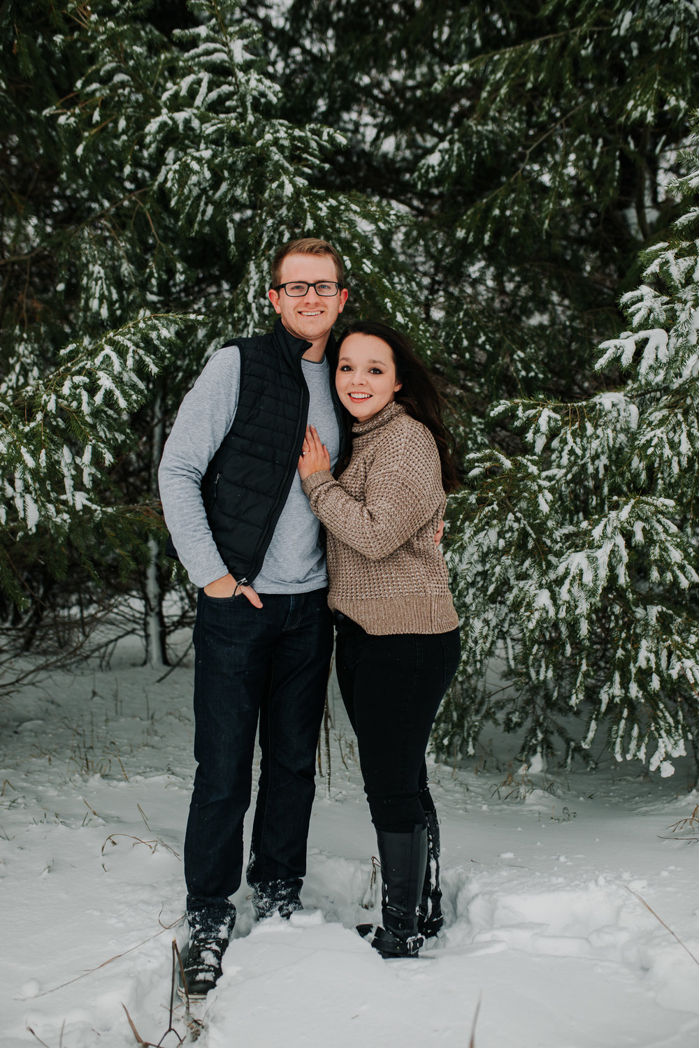 Vanessa & Dan - Engaged - Nathaniel Jensen Photography - Omaha Nebraska Wedding Photographer - Standing Bear Lake - Snowy Engagement Session-37.jpg