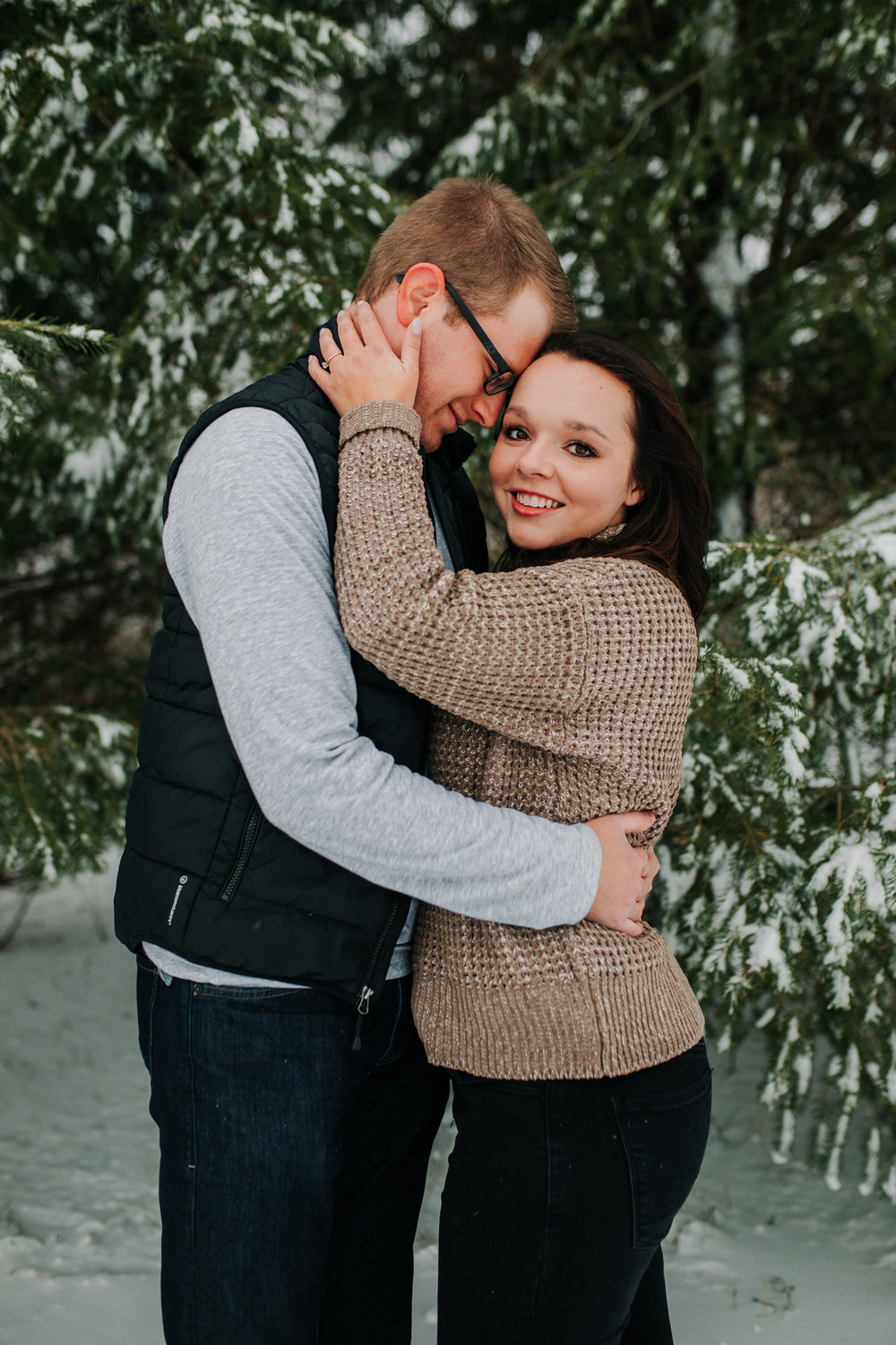 Vanessa & Dan - Engaged - Nathaniel Jensen Photography - Omaha Nebraska Wedding Photographer - Standing Bear Lake - Snowy Engagement Session-42.jpg