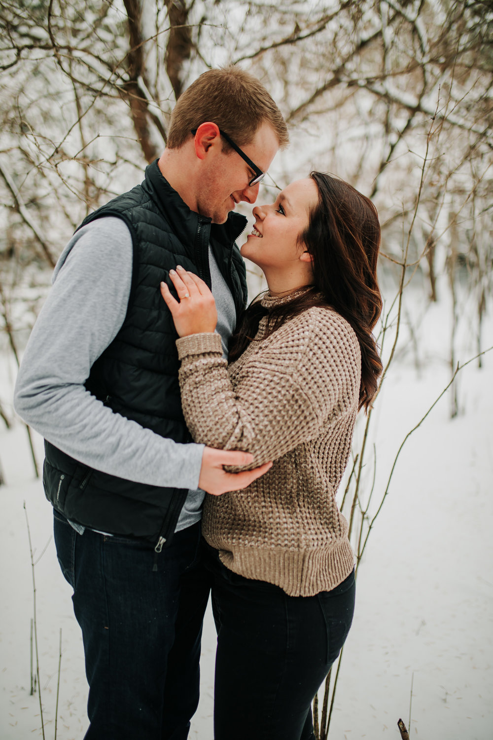 Vanessa & Dan - Engaged - Nathaniel Jensen Photography - Omaha Nebraska Wedding Photographer - Standing Bear Lake - Snowy Engagement Session-48.jpg
