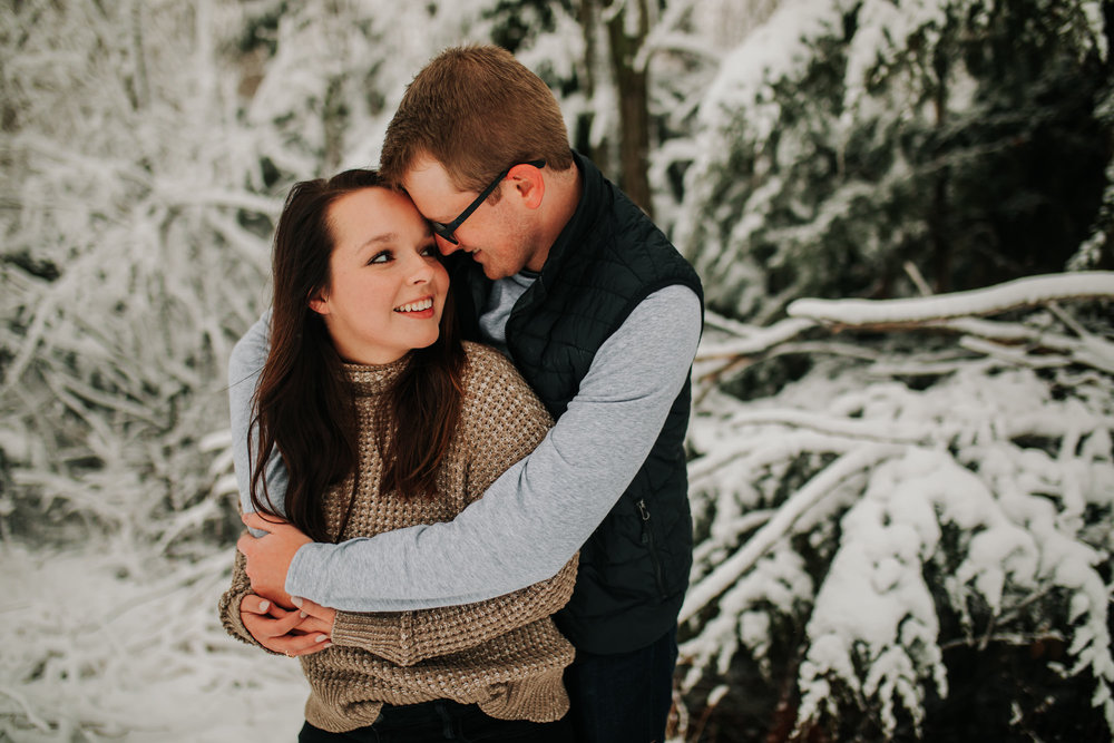 Vanessa & Dan - Engaged - Nathaniel Jensen Photography - Omaha Nebraska Wedding Photographer - Standing Bear Lake - Snowy Engagement Session-55.jpg