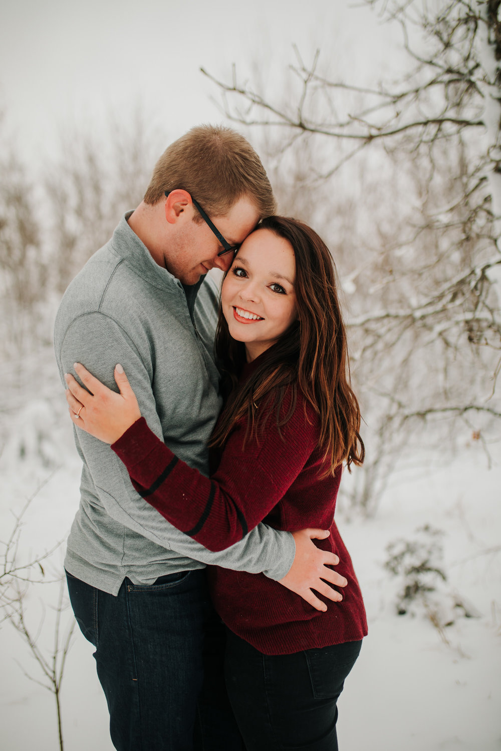Vanessa & Dan - Engaged - Nathaniel Jensen Photography - Omaha Nebraska Wedding Photographer - Standing Bear Lake - Snowy Engagement Session-63.jpg