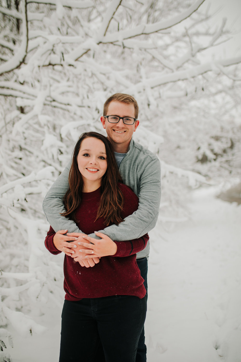 Vanessa & Dan - Engaged - Nathaniel Jensen Photography - Omaha Nebraska Wedding Photographer - Standing Bear Lake - Snowy Engagement Session-66.jpg