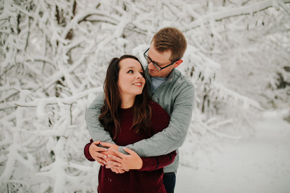 Vanessa & Dan - Engaged - Nathaniel Jensen Photography - Omaha Nebraska Wedding Photographer - Standing Bear Lake - Snowy Engagement Session-68.jpg