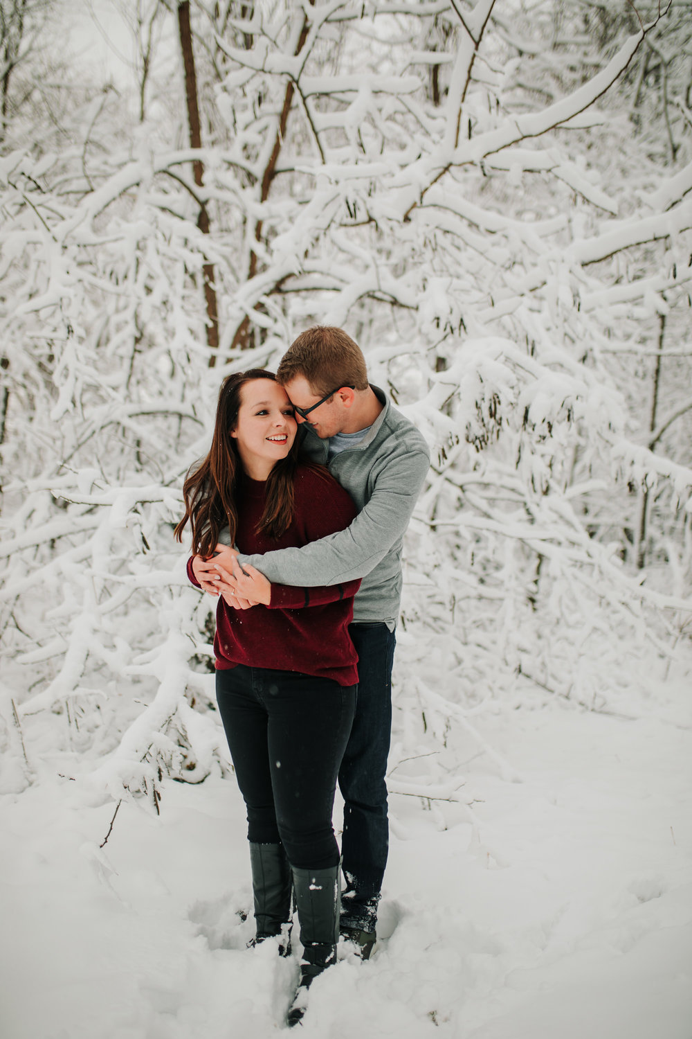 Vanessa & Dan - Engaged - Nathaniel Jensen Photography - Omaha Nebraska Wedding Photographer - Standing Bear Lake - Snowy Engagement Session-69.jpg
