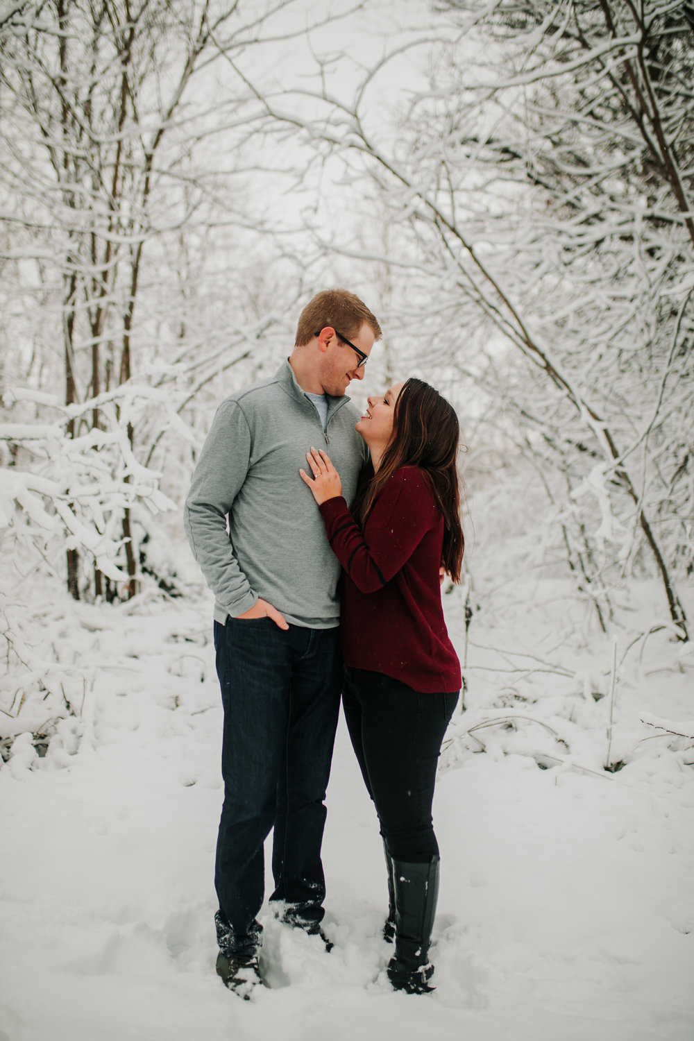 Vanessa & Dan - Engaged - Nathaniel Jensen Photography - Omaha Nebraska Wedding Photographer - Standing Bear Lake - Snowy Engagement Session-72.jpg