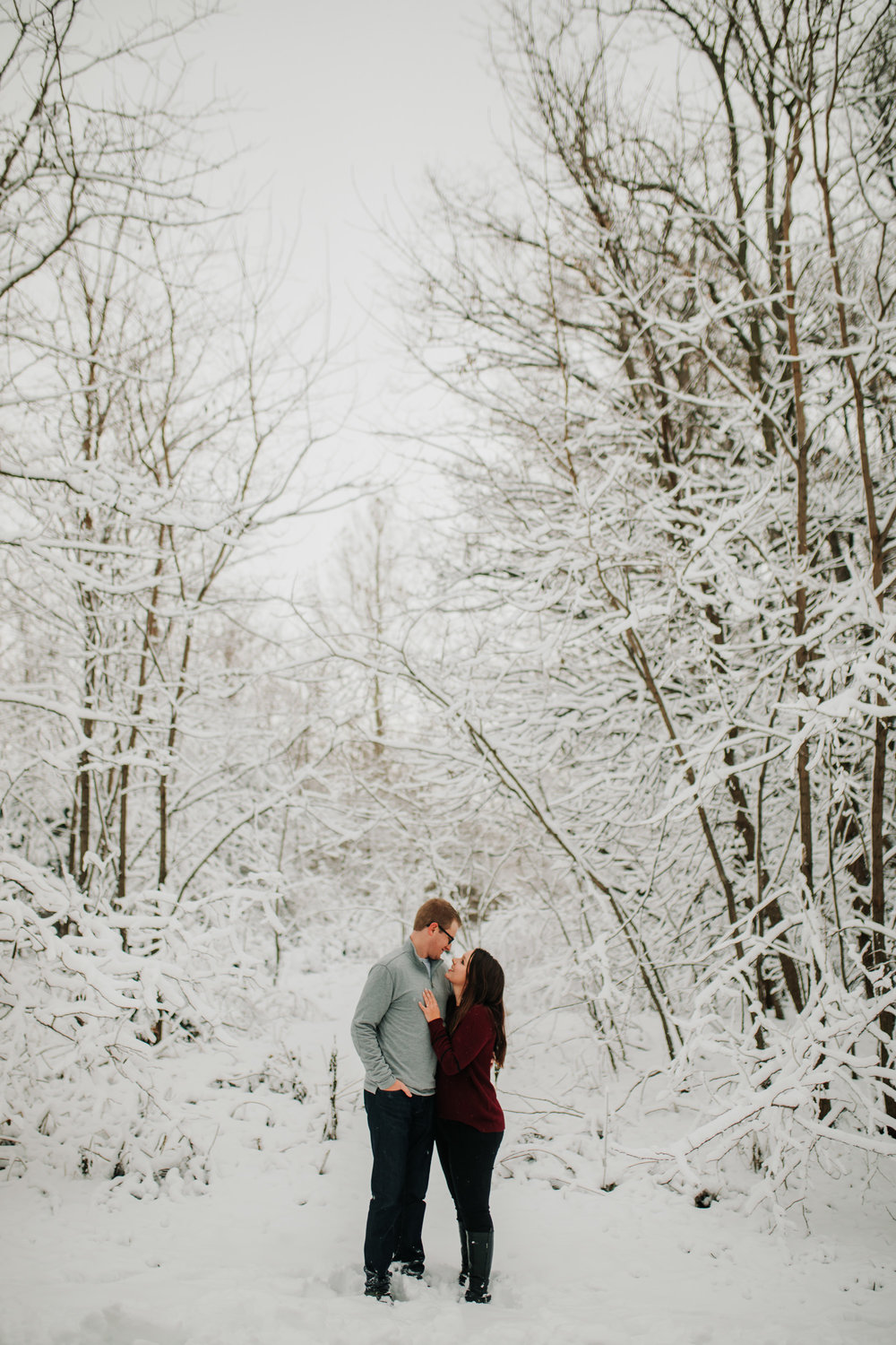 Vanessa & Dan - Engaged - Nathaniel Jensen Photography - Omaha Nebraska Wedding Photographer - Standing Bear Lake - Snowy Engagement Session-73.jpg