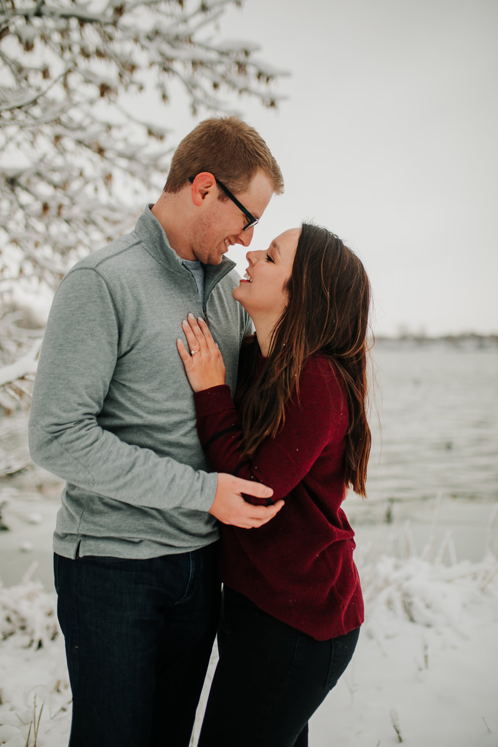 Vanessa & Dan - Engaged - Nathaniel Jensen Photography - Omaha Nebraska Wedding Photographer - Standing Bear Lake - Snowy Engagement Session-76.jpg