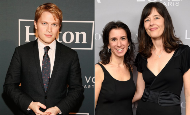 Pulitzer Prize-winning reporters Ronan Farrow, Jodi Kantor and Megan Twohey. Photos: Paul Morigi/Getty; Dimitrios Kambouris/Getty