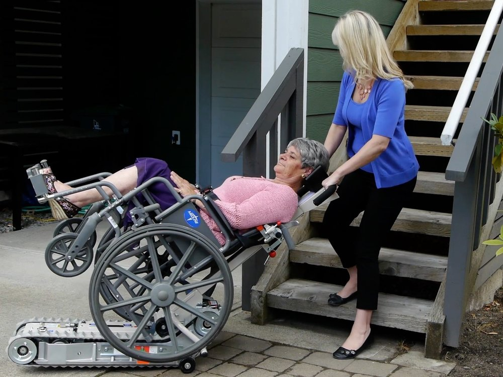 Portable stairlift stair track
