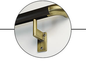 Brackets align even to irregular studs. Support 500 lbs each. Slide, twist, secure. Simple! -