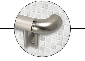 Aluminum rail, plated hardware, and stainless steel fasteners for indoor & outdoor performance. -
