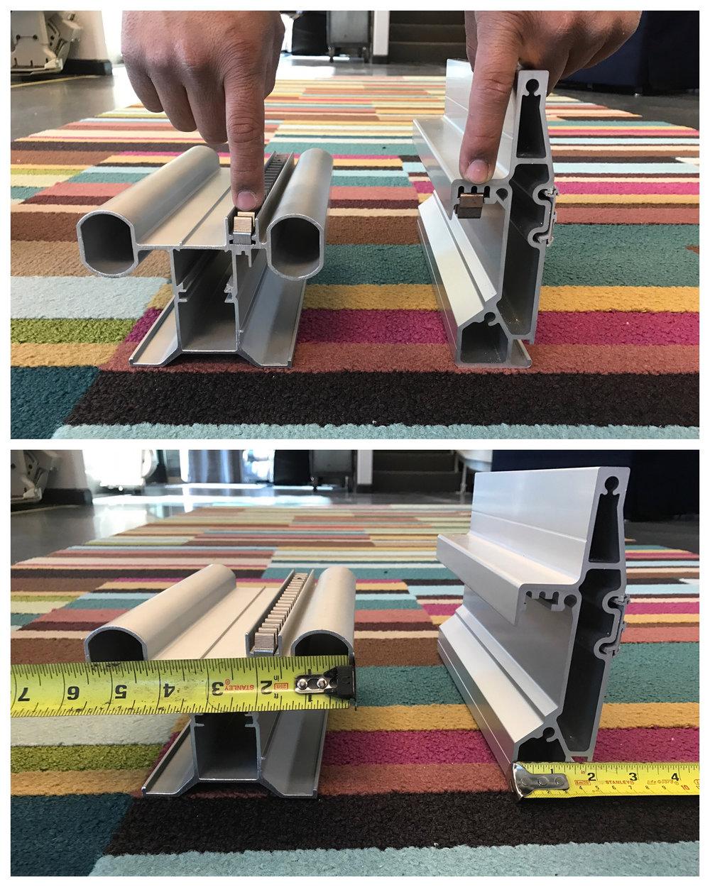 Bruno stairlift rail vs Acorn stairlift rail