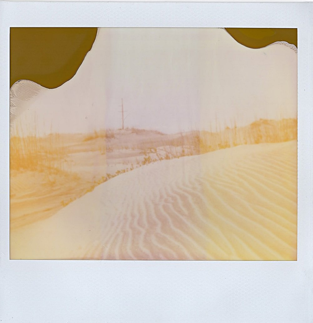 Sandy stretch marks in the Outer Banks, North Carolina -- January 2017 -- Expired Polaroid Spectra