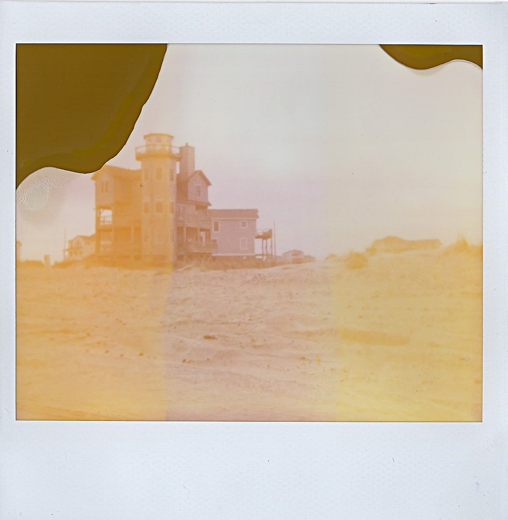Dreamy beach house in Outer Banks, North Carolina -- January 2017 -- Expired Polaroid Spectra