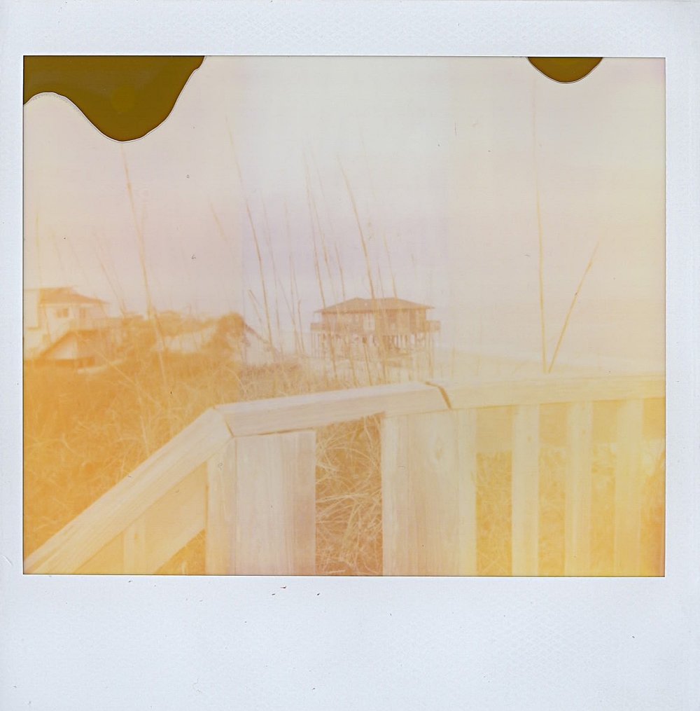 Dreamy beach house in the Outer Banks, North Carolina -- January 2017 -- Polaroid Spectra