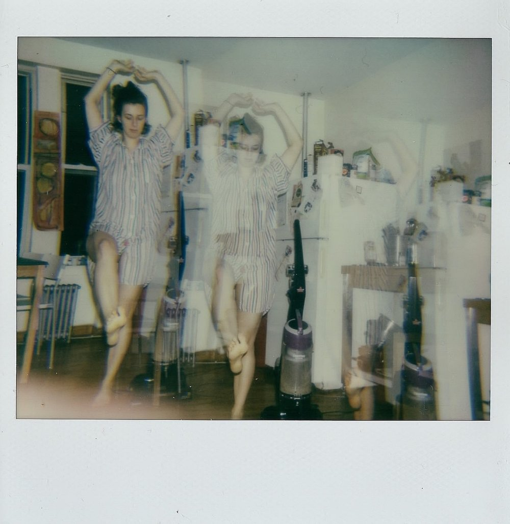 My sister Tirzah in her kitchen in Brooklyn, NY -- Polaroid Spectra -- February 2017
