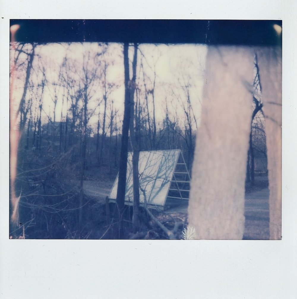 Shot on my Polaroid Spectra in the Laumeier Sculpture Park in St. Louis, Missouri -- March 2017