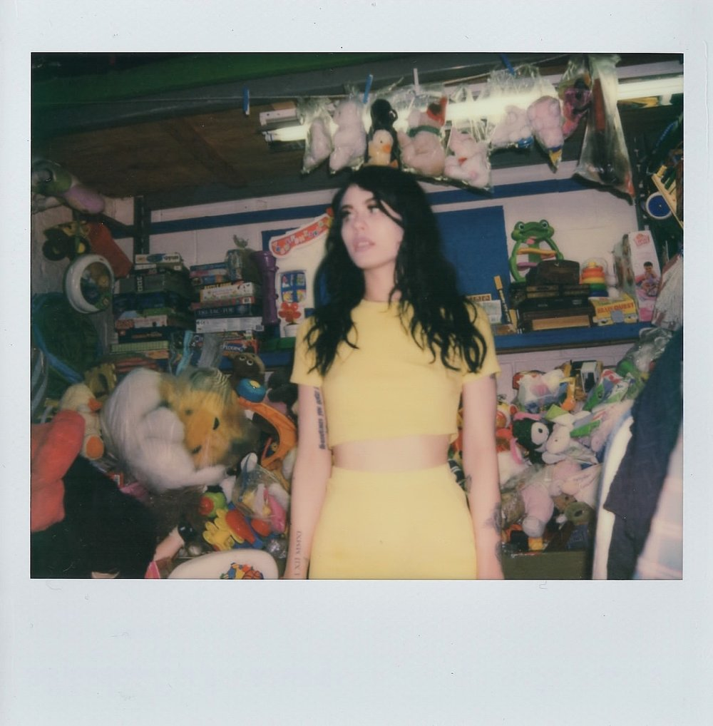 Agnieszka in my neighborhood thrift-shop -- April 2017 -- Brooklyn, New York