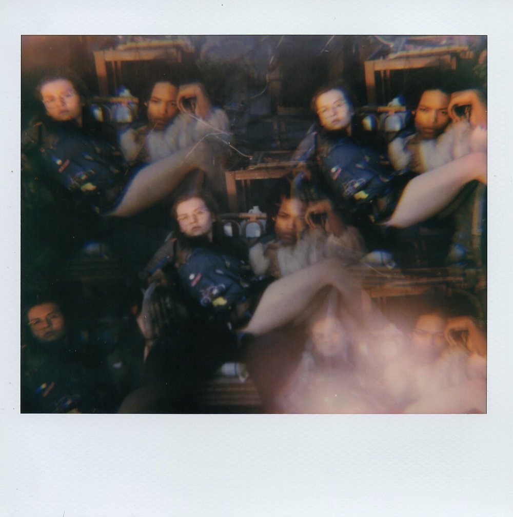 Tessa and Mars on my roof in Brooklyn, New York -- Summer 2017 -- Shot on Polaroid Spectra