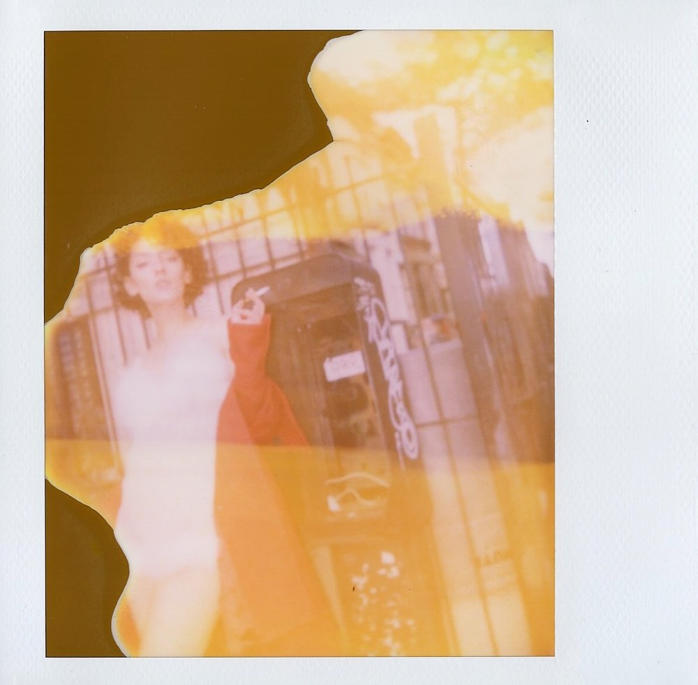 Expired Polaroid of Teya Knapp in Brooklyn, New York -- 2017