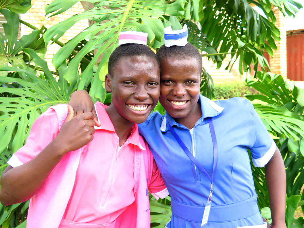 Winnie & Juliet  - studying at Villa Maria Nursing School. Winnie hopes to become a nurse and Juliet's dream is to become a midwife.