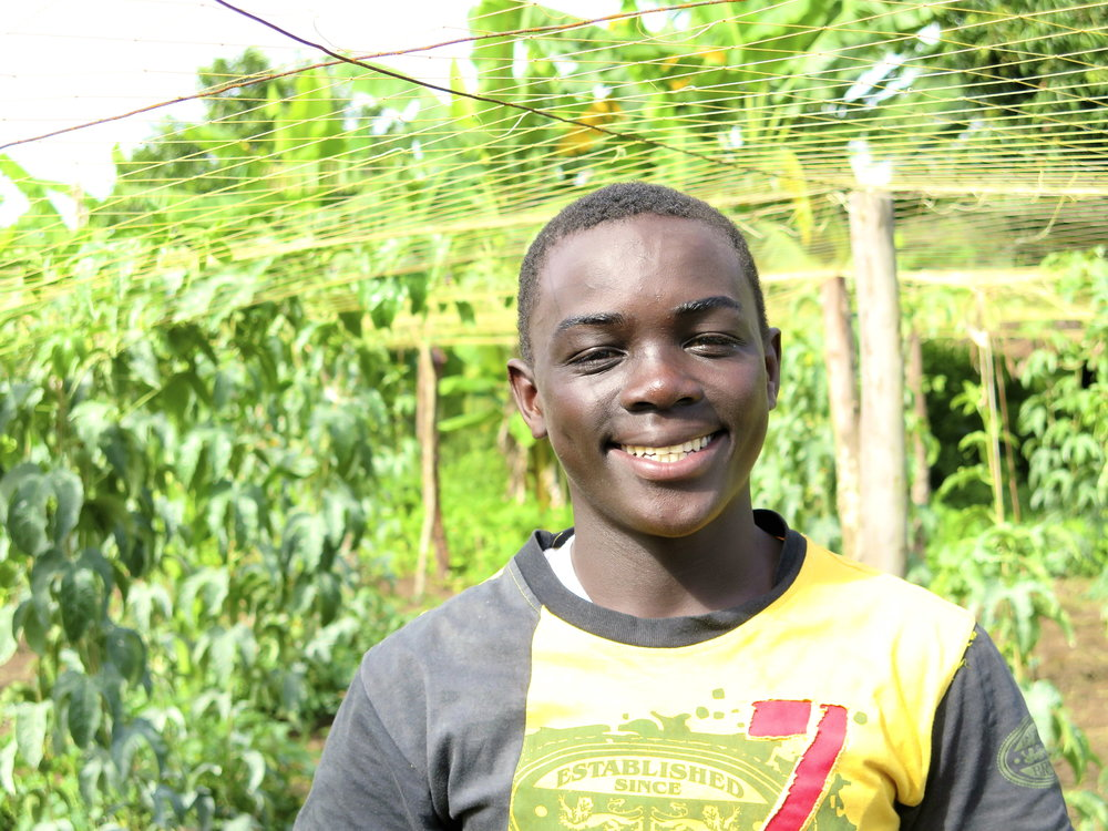 Bruno  - studying at Ggaba Primary Teachers' College. He hopes to become a primary school teacher and to work at KAASO.