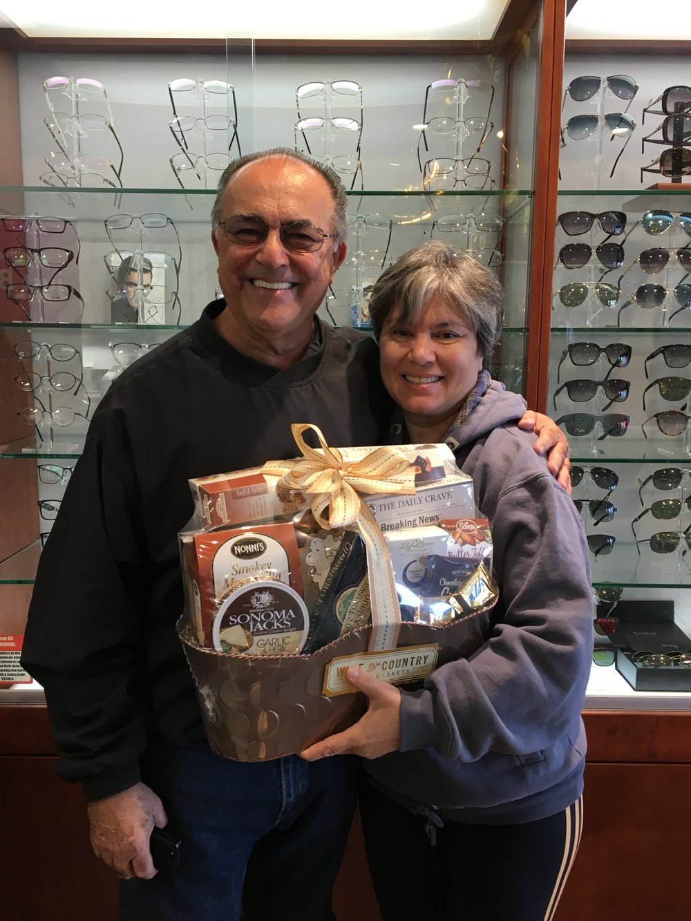 - Here is a photo of one of our raffle winners, whom have just picked up their prize. They have won a Wine Country Gift Basket!  Our next event is right around the corner. Follow us on our social media accounts to find out more. We hope to see you there!