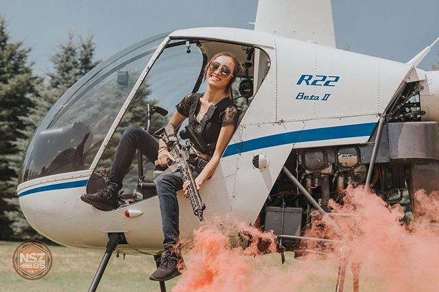 @thelifeofahelicopterpilot poppin' smoke! My @blowndeadline custom finished @falkor.defense Caitlyn in hand. Christina has to be the coolest helicopter pilot I know. 🇺🇸 ••••••••••••••••••••••••••••••••••••••••••••••••••••• #nsz85 #helicopter #femalepilot  #ar15 #ar15news #gunfanatics #ar15goa #igmiltia #brownells #photooftheday #weaponsdaily #gunsdaily #gunsdailyusa #gunpics #merica #ddub_militia #firearms #firearmphotography #sickguns #sickgunsallday #weaponsfanatics #dailydefense