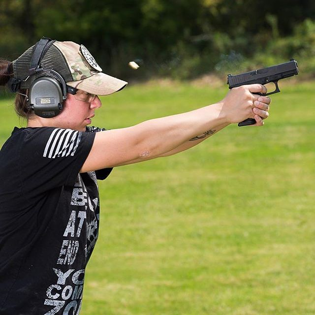 #Repost @aguilaammo ・・・ @nsz85 catching some mid-air Aguila brass. #feeeyourfirearm #AguilaAmmo #glock