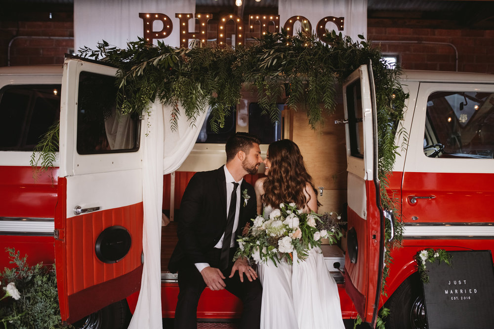 Event Planning   Jane West Events    Van Photo Booth   Tap N Snap Van Company    Floral Design   Furrow Floral Company