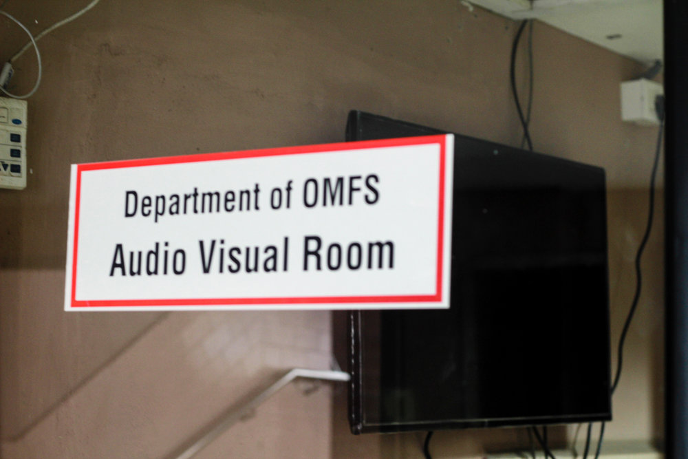 Audio Visual Room of the department is used to play educative surgical videos for demonstration.