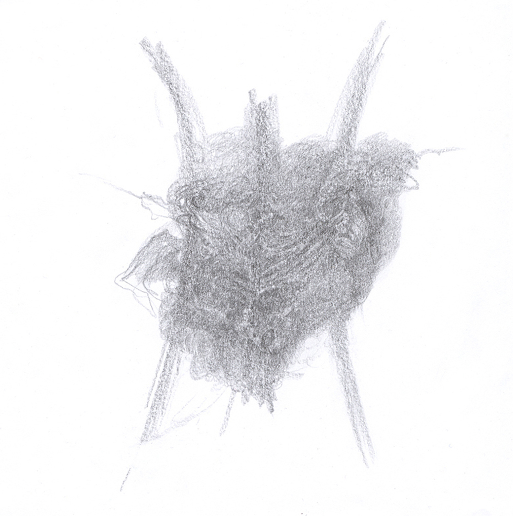 Untitled, 2009 - graphite on paper, 21,5 x 21,5 cm