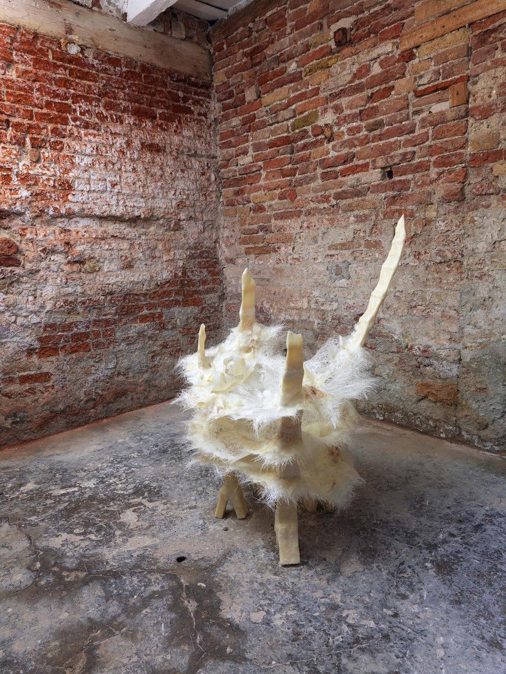 Untitled, 2011 - mixed media, 120 x 87 x 65 cm, installation view at DNA project box, Venice   photo: Alessandro Zambianchi