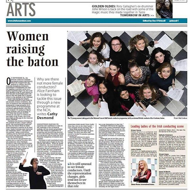 We're so proud of our @dada_124! 😍😍 #choral #femaleconductor #baton #orchestra #music #cork #madrigal75