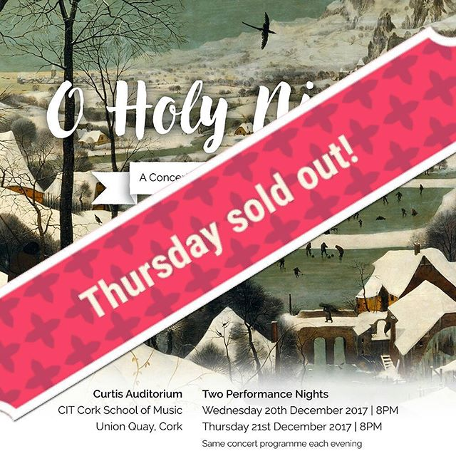 Online tickets for Thursday are sold out! We have VERY limited availability for tickets on the door that night. . There are still tickets available for Wednesday, but they're selling fast so if you're thinking of booking, act soon! . We are so thrilled and excited to bring you our Christmas programme and really hope that you will relax and enjoy your evening! #madrigal75