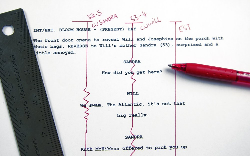 how to line a film script amy clarke films
