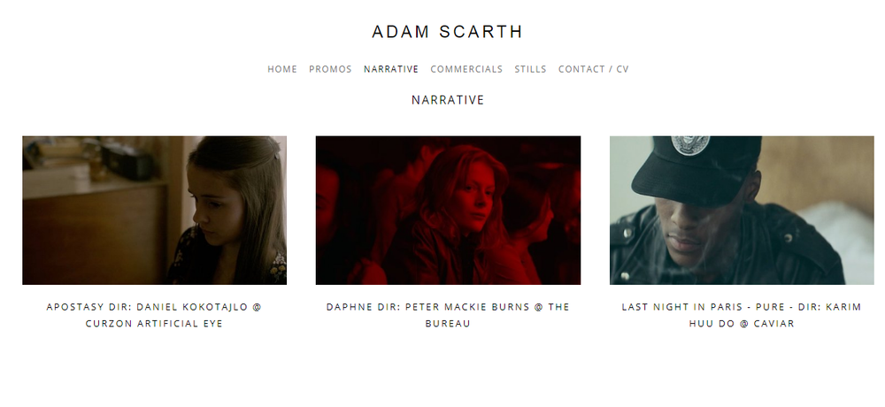 Filmmaker Portfolio Examples Tips On Making A Killer Portfolio And
