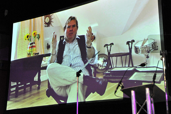 Timothy Spall (Barry), who could not be there on the night, sent the first video tribute.